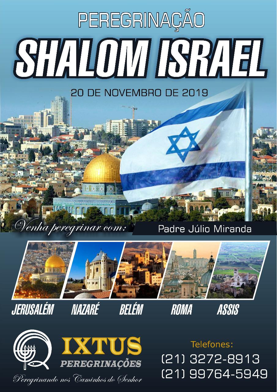 Participe da peregrinação a Jerusalém, Nazaré, Belém, Roma e Assis!