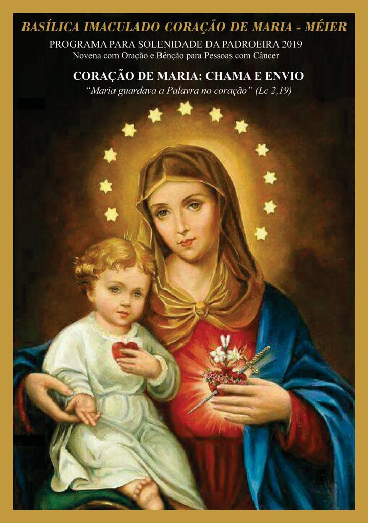 Participe das atividades da Novena e Solenidade do Imaculado Coração de Maria!